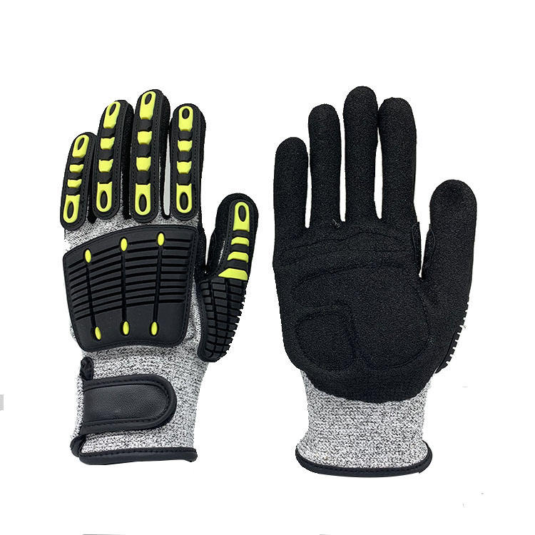 New safe hands cut resistant tpr brand name protection gloves