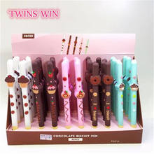 Chocolate dessert style gel ink pen of 5 styles with 0.5mm refill for promotional or gift  2392