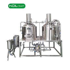 Full production line for mini beer brewery restaurant beer brewing machine