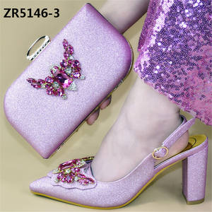 fashion design italian shoes and bag set/lady evening women sandals shoes