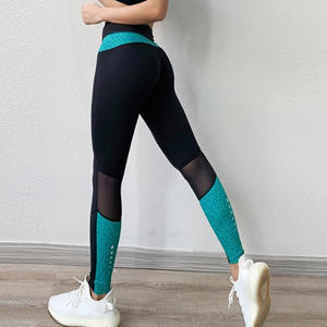 New Sports Wear Reflective Mesh Patchwork Yoga Fitness Pants Sexy Female Women Yoga Running Gym Leggings Wih Custom Logo