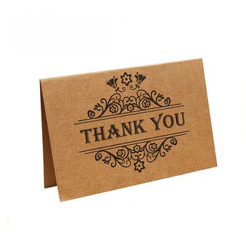 custom printing handwritten recycled paper brown kraft wedding greeting thank you cards