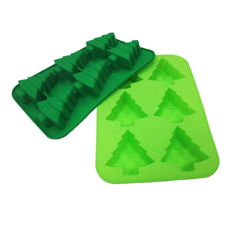 Christmas tree Food-grade BPA Free Ice Cube Trays Silicone Ice Maker Mold