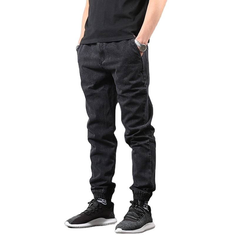 OEM Design Japanese Style Fashion Men's Jogger Jeans Black Blue Color Streetwear Punk Pants Hip Hop Jeans Men