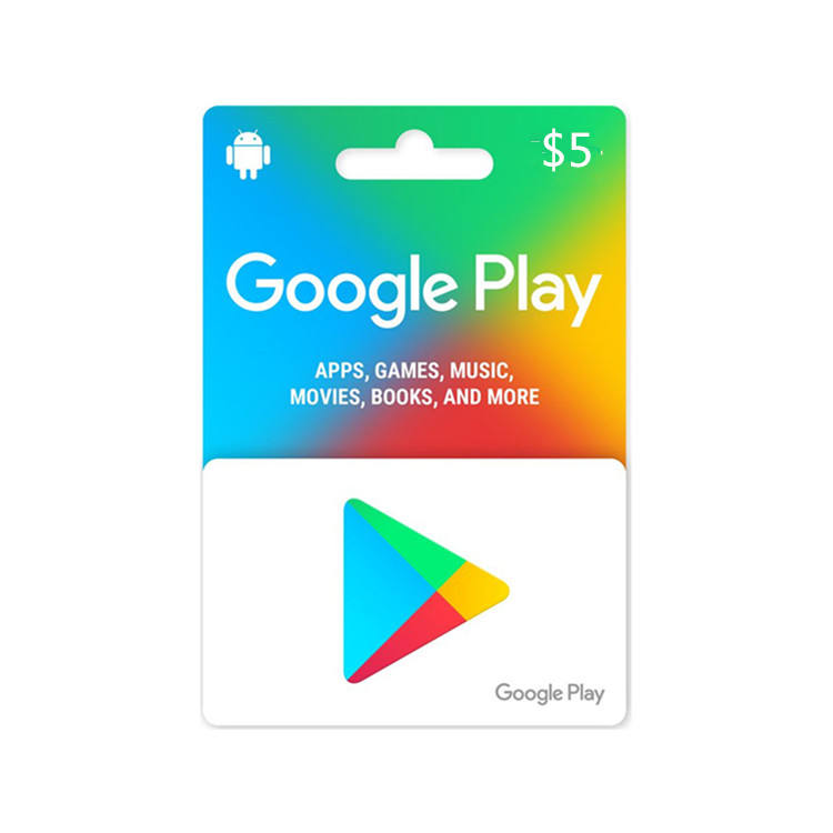 USA region $5 google play gift card