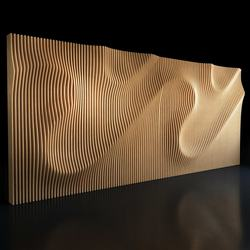 wooden metal  3D wall facade cladding for interior wall project decoration