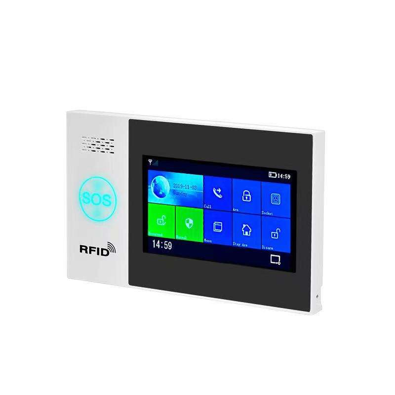 IP Webcam Monitoring GSM WiFi Burglar Alarm Touch Color Screen Dual Network RFID Video Monitoring