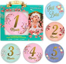 Baby Cartoon Style Shower Gifts Safe Stickers, Baby Monthly Milestone Stickers