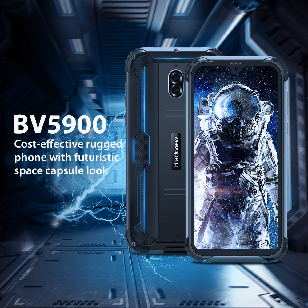 "Blackview BV5900 5580mAh IP68/IP69K Wasserdicht Stoßfest Handy 3GB 32GB 5.7 ""Android 9,0 Quad core 4G Robuste Smartphone"