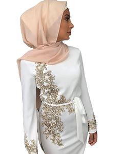 Arab Turkish Jilbab Dubai Long Muslim Women Islamic Dresses Plain White Color Latest Designs Pray Simple Black Abaya