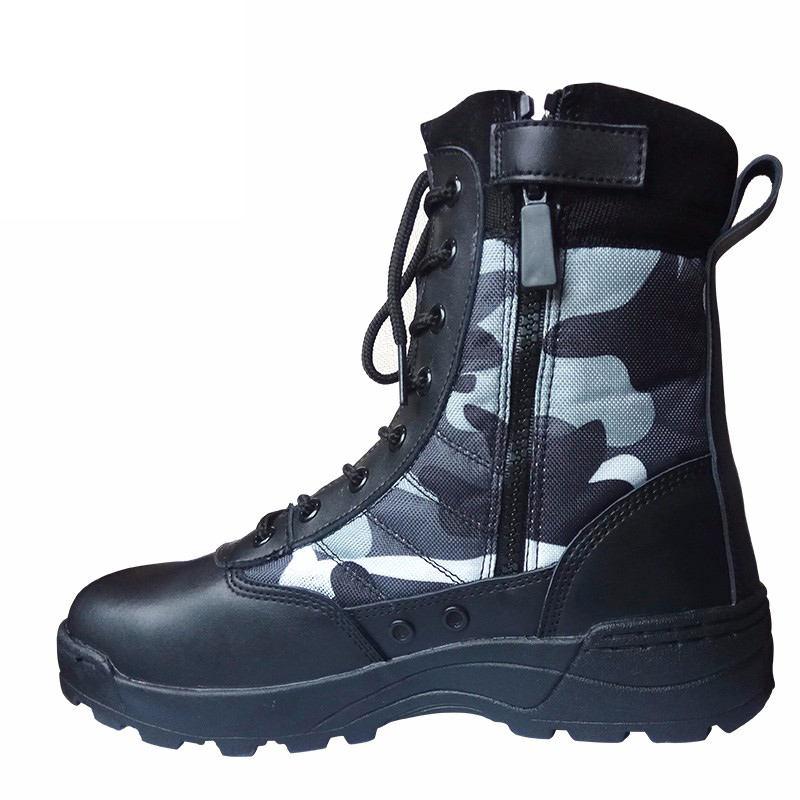 Botas militares de cuero genuino para Hombre, Botas de motociclismo para cazar y caminar de estilo Casual, Botas negras de diseñador para el desierto