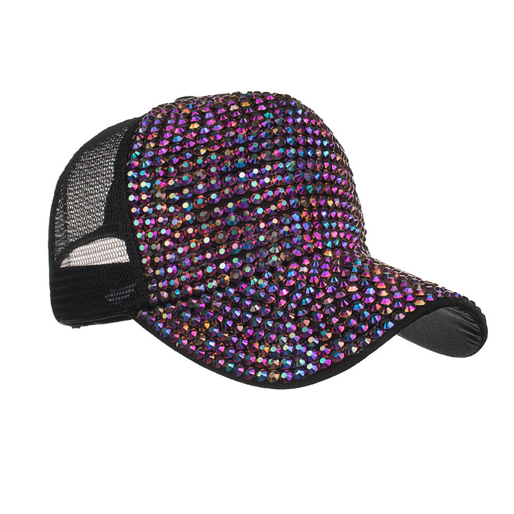 bling baseball Rhinestone hat glass rhinestone baseball hat for women