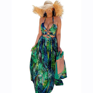 Clothing Boutique Wholesale African Long Sleeve Maxi Dress ZS_G0271