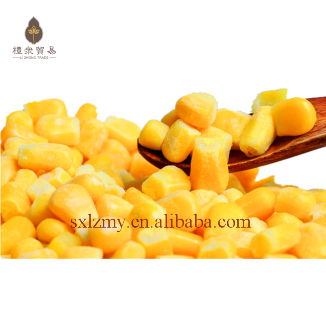 High Quality Whole Kernel IQF Frozen Sweet Corn Price