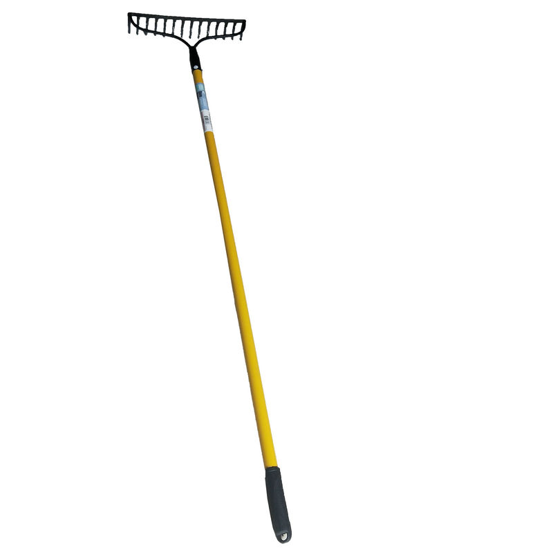 China top ten selling products agriculture hand leaf rake 14 teeth garden rake with handle