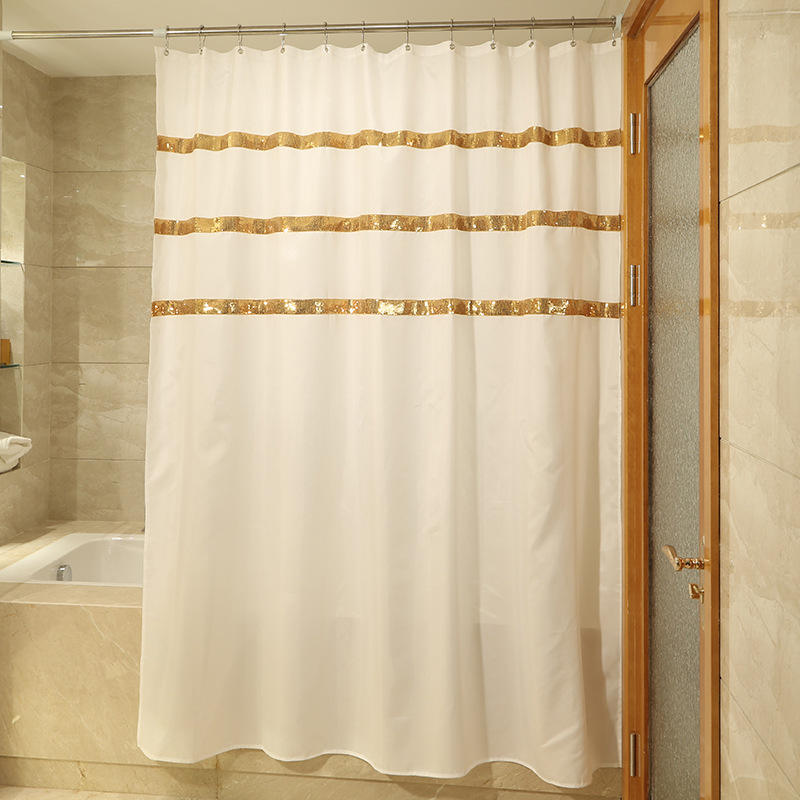 Gold Sequin Shower Curtain,Custom Design Multi Color Sequin Shower Curtain For Bathroom#