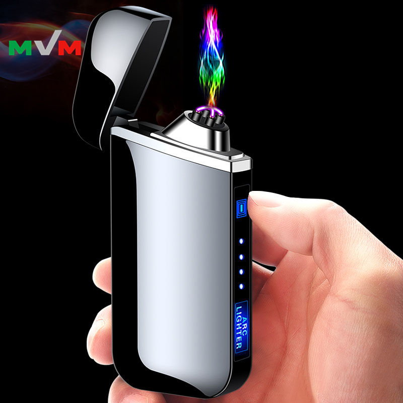 MLT248 OEM Thumb Touch Button Arc Electronic Usb Rechargeable Cigarette Lighter for Retailing