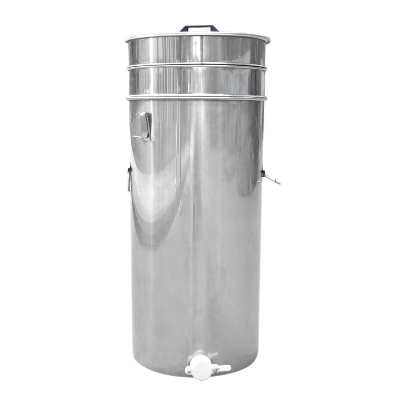 Double Filter Honey Bucket Sift Honey Barrel Stainless Steel Thickening With Strainer Beekeeping Tools