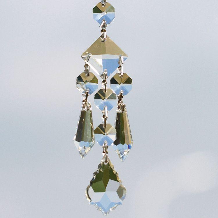 Natale Sfaccettato Sfera Maple Leaf <span class=keywords><strong>Suncatcher</strong></span> Prism Fai Da Te di <span class=keywords><strong>Cristallo</strong></span> Del Pendente