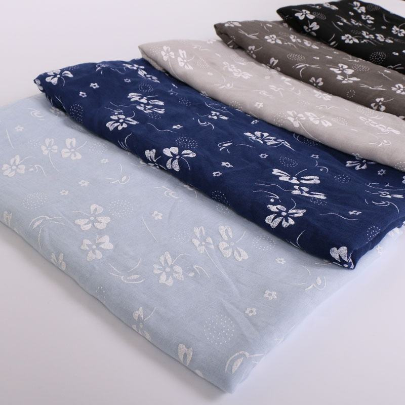 New Arrive Fashion Wrap Long Muffler Women Muslim Hijab Printed Floral Cotton Shawls