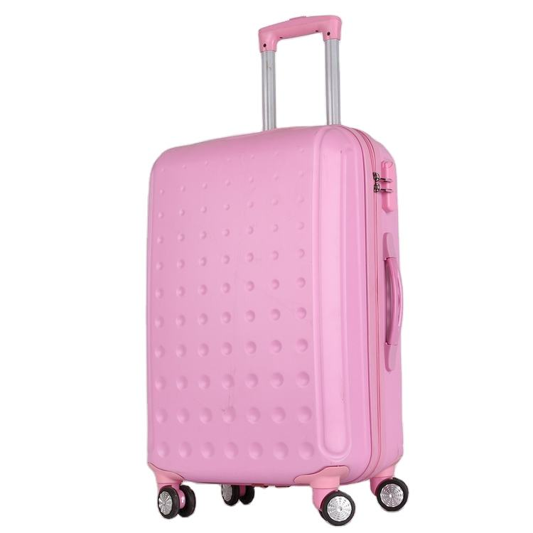 customize PC luggage 20/24 inch blue travel metal hard shell suit case luggage with 360 wheel