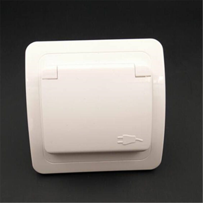 Industrial waterproof wiring socket safety waterproof protection door European standard/French ground jack high power wiring