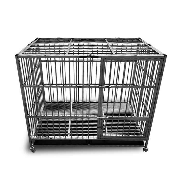 Amazon Hot Sale Easy to Assemble Strong Metal Heavy Duty Dog Crate Cage Kennel Playpen for Large Dogs Cats