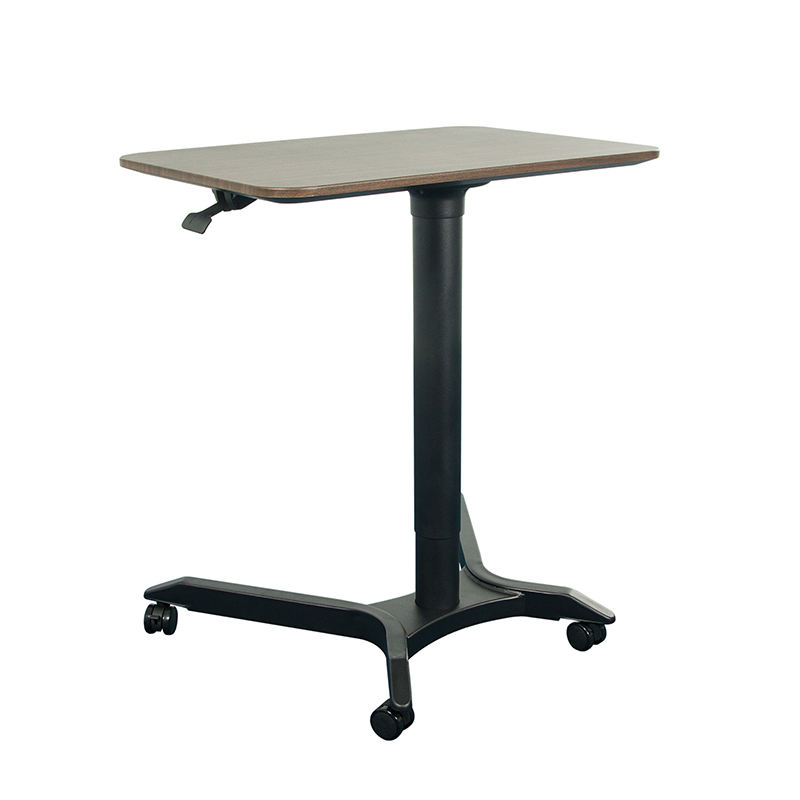 Office Furniture Pneumatic Height Adjustable 4 feet Gas Lifting Computer Lift Table Desk