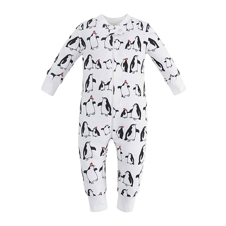 2020 Newborn Clothes Zip Up One-Piece Jumpsuit Baby Boy Girl Fall Winter Long Sleeve Organic Cotton Baby Rompers Pajamas