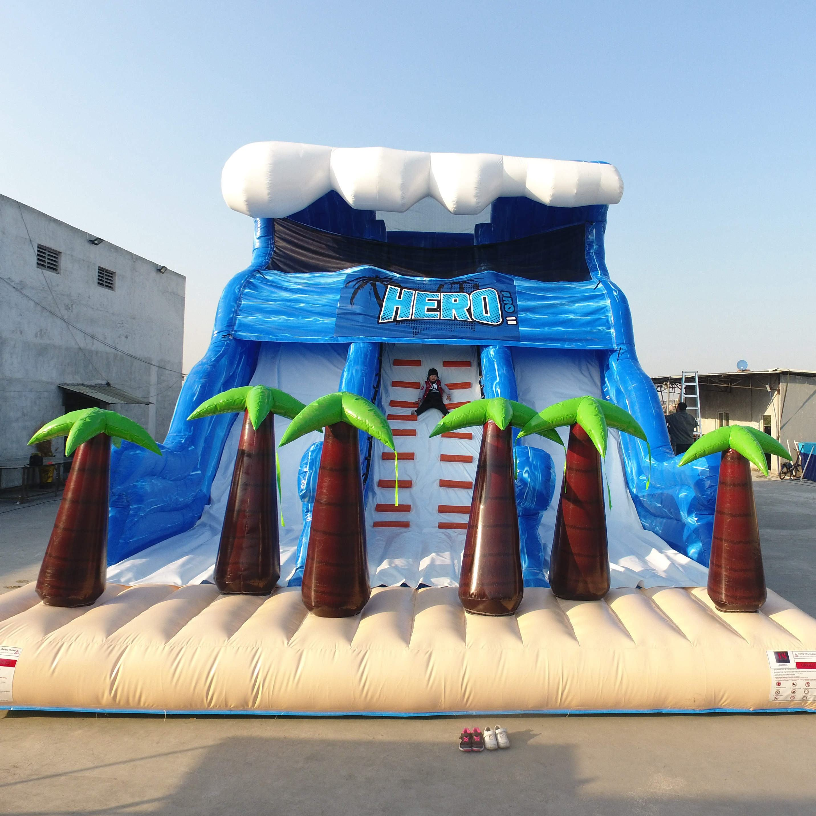 high quality wholesale inflatable slide children slide castle outdoor playground equipment large inflatable slide for kids