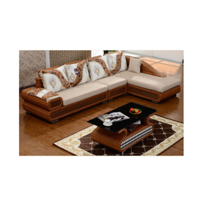 Bamboo and rattan sofa simple sofa combination spring and summer living room rattan sofa