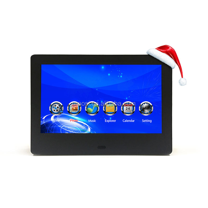 Supermarket Shelf Promotion Advertising Screen 7 Inch Display Motion Sensor Lcd Video Player