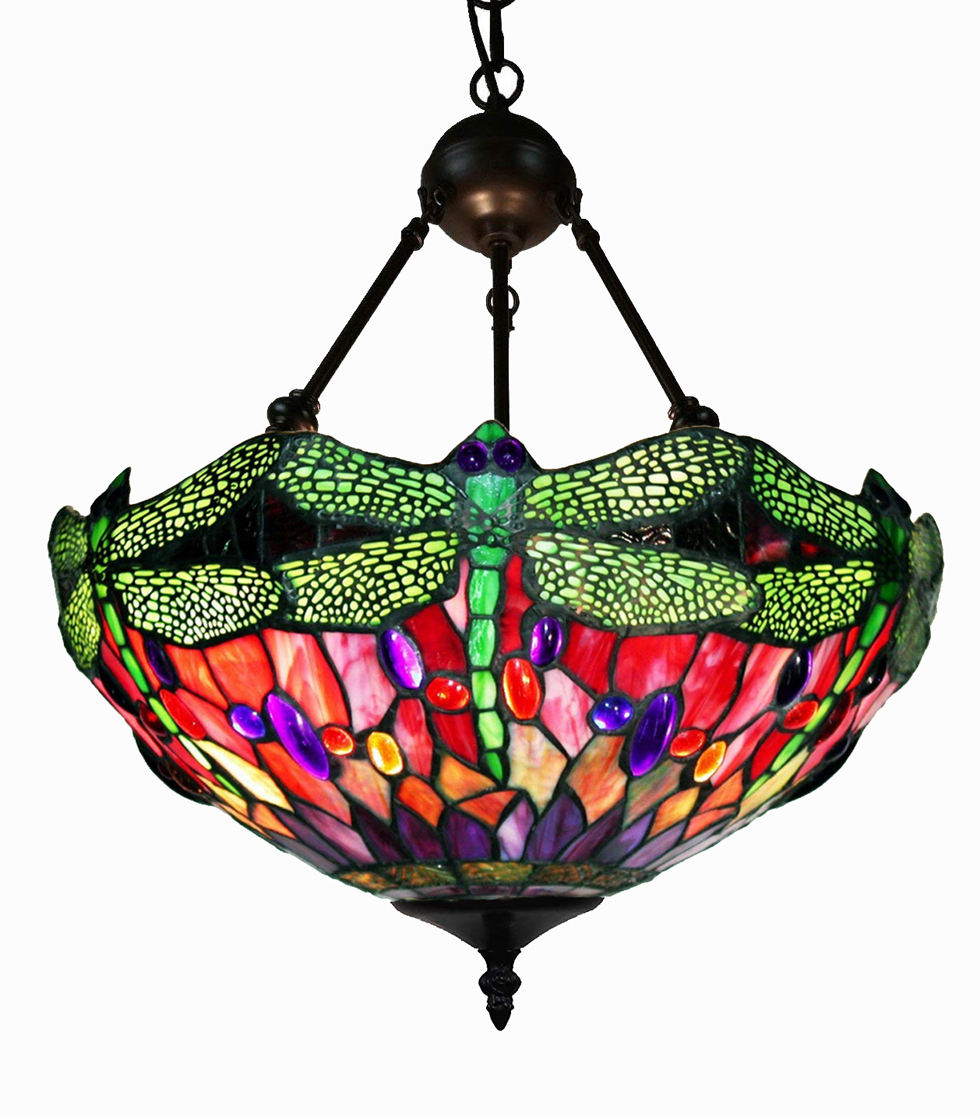 Tiffany Dragonfly glass pendant Lamp quality stained glass pendant lights glass chandeliers wholesale
