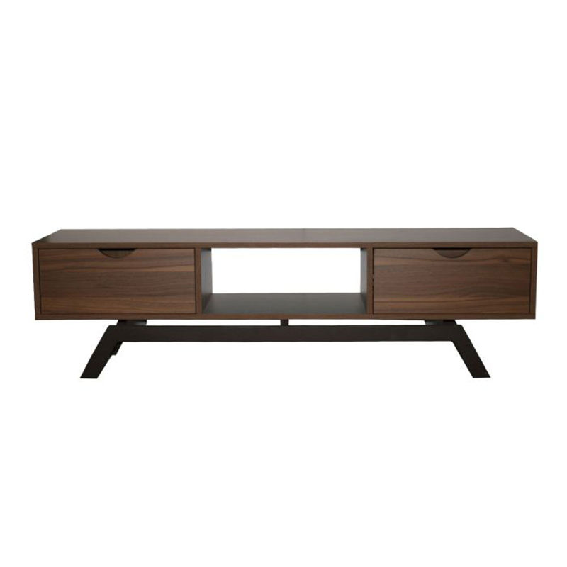 Living room furniture industrial design corner walnut wood antique tv unit cabinet