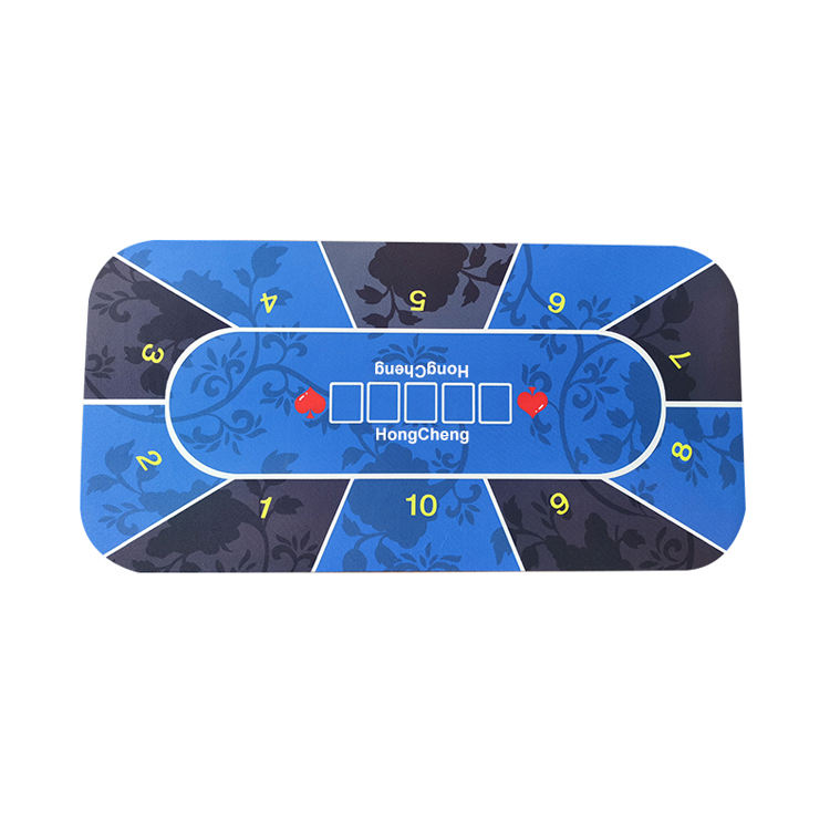 120*60*0.3cm Enjoy The Relax Playing Together Natural Rubber Casino Poker Mats