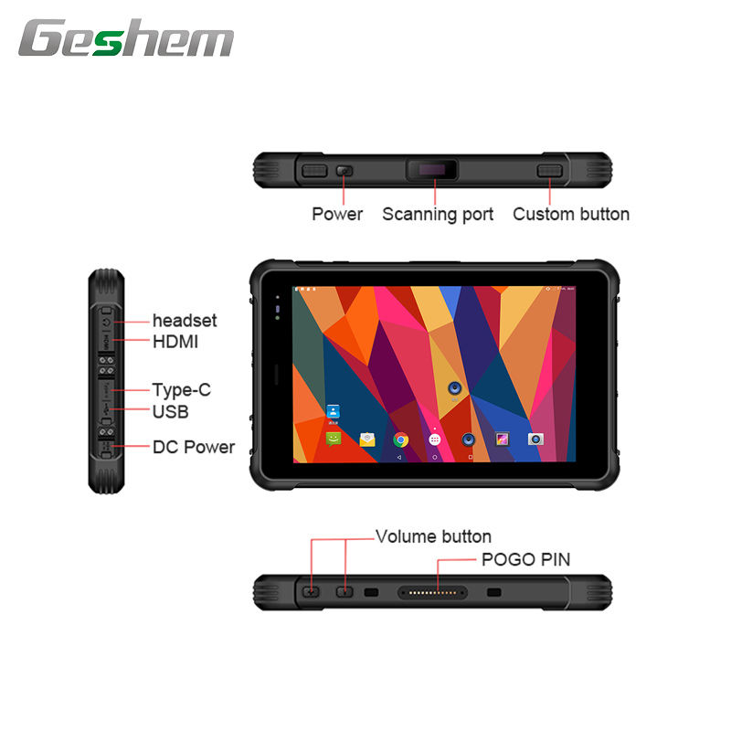 "Industrial Tablet Pc Android 8"" 3g 4g Lte Mtk6771 Industrial Rugged Android Tablet Pc With Ip67 Waterproof Capacitive Touch"
