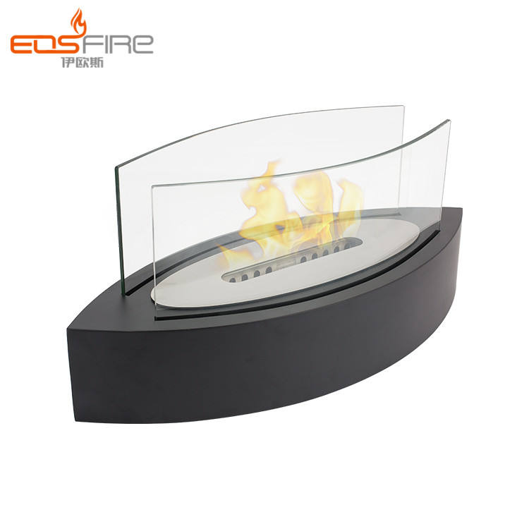 No installation living room small decorative ventless ethanol fireplace