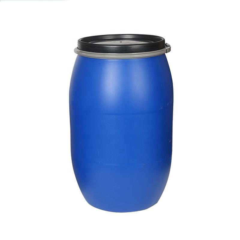 Brimful Volume 220L Open Top Blue Plastic 55 Gallons Drum