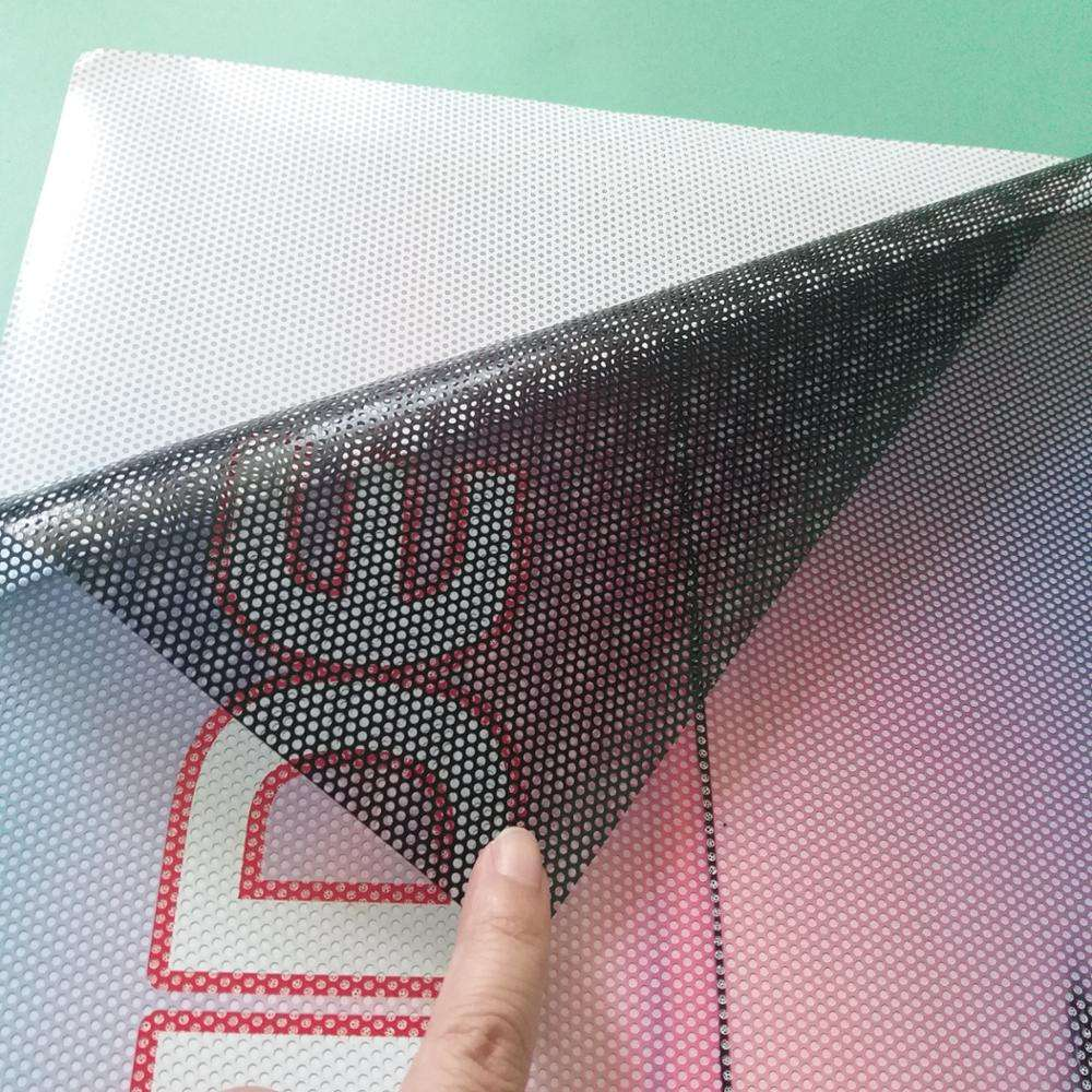 High quality perforated vinyl window one way vision film see through sticker printing
