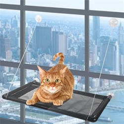 Cat Window Perch Bed Seat Window Mounted Cat Hanging Hammock with Heavy Duty Suction Cups Holds up to 60lbs