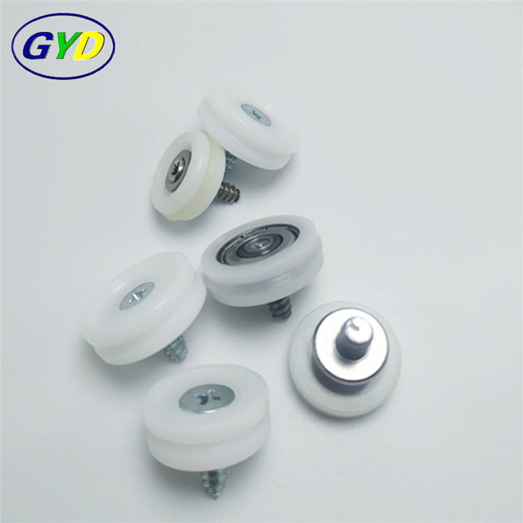 Best quality plastic cash drawer pulley ball bearings sliding drawer guide roller wheels with bearing