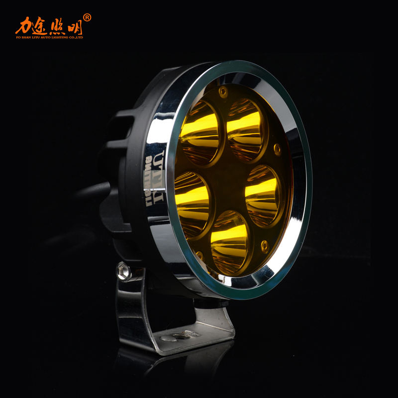 2020 LITU 50W 4 inch Round LED Driving Lamp with Yellow/White Lighting LED Work Light for Truck/ATV/Auto Lighting System/Offroad