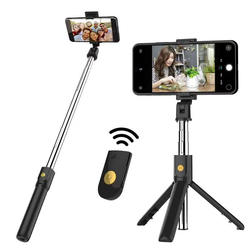 Extendable mini selfie stick Wireless Remoter Foldable Porta