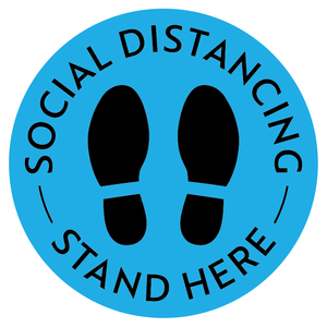 keep distancie 6ft Distance Markers Removable Floor Decals for Social Distancing Sticker