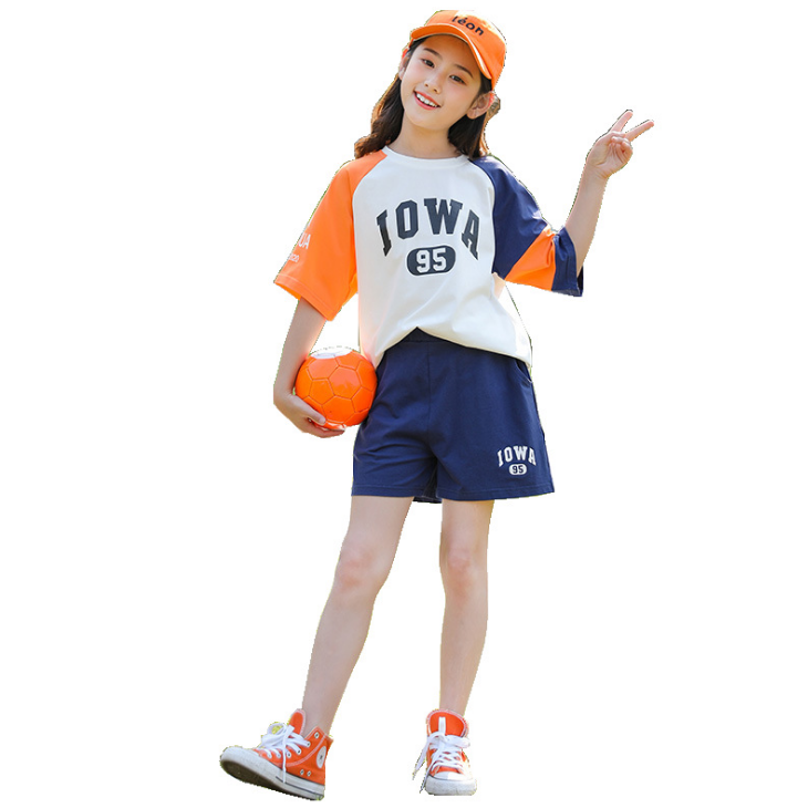 New fashion children wears girls clothing sets kids 2 pcs casual sets