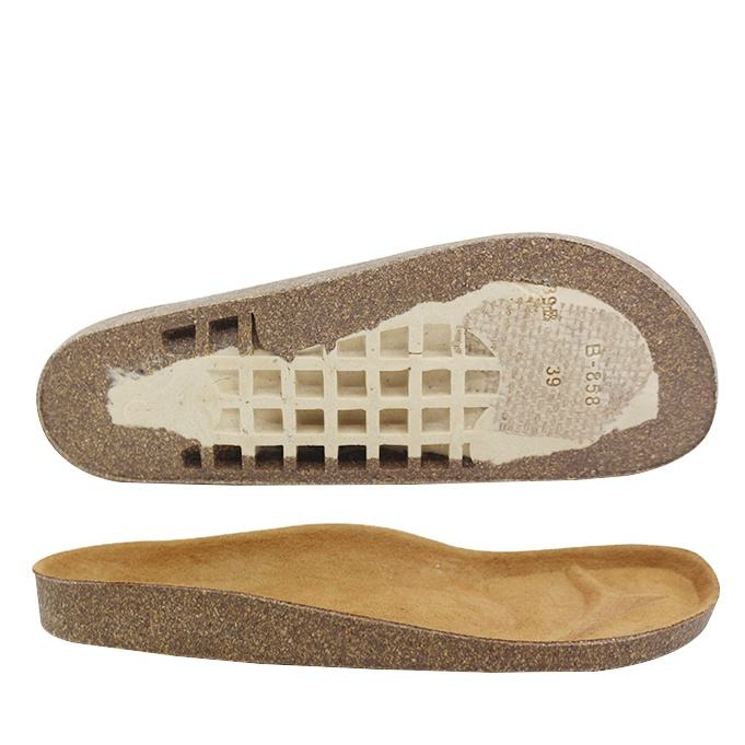 China Market Best Price Wood Material Making Indoor Slipper Shoe Soles Durable Non Slip Rubber Sandal Outsole Bulk Cork Sole