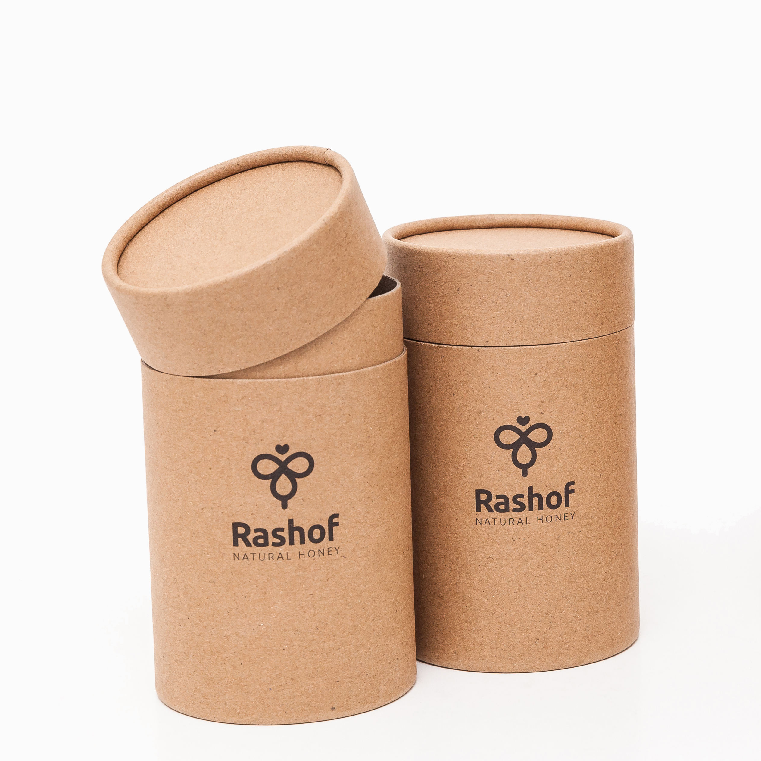 Natural Brown Kraft Paper Round Paper Boxes Cylinder Boxes for Honey