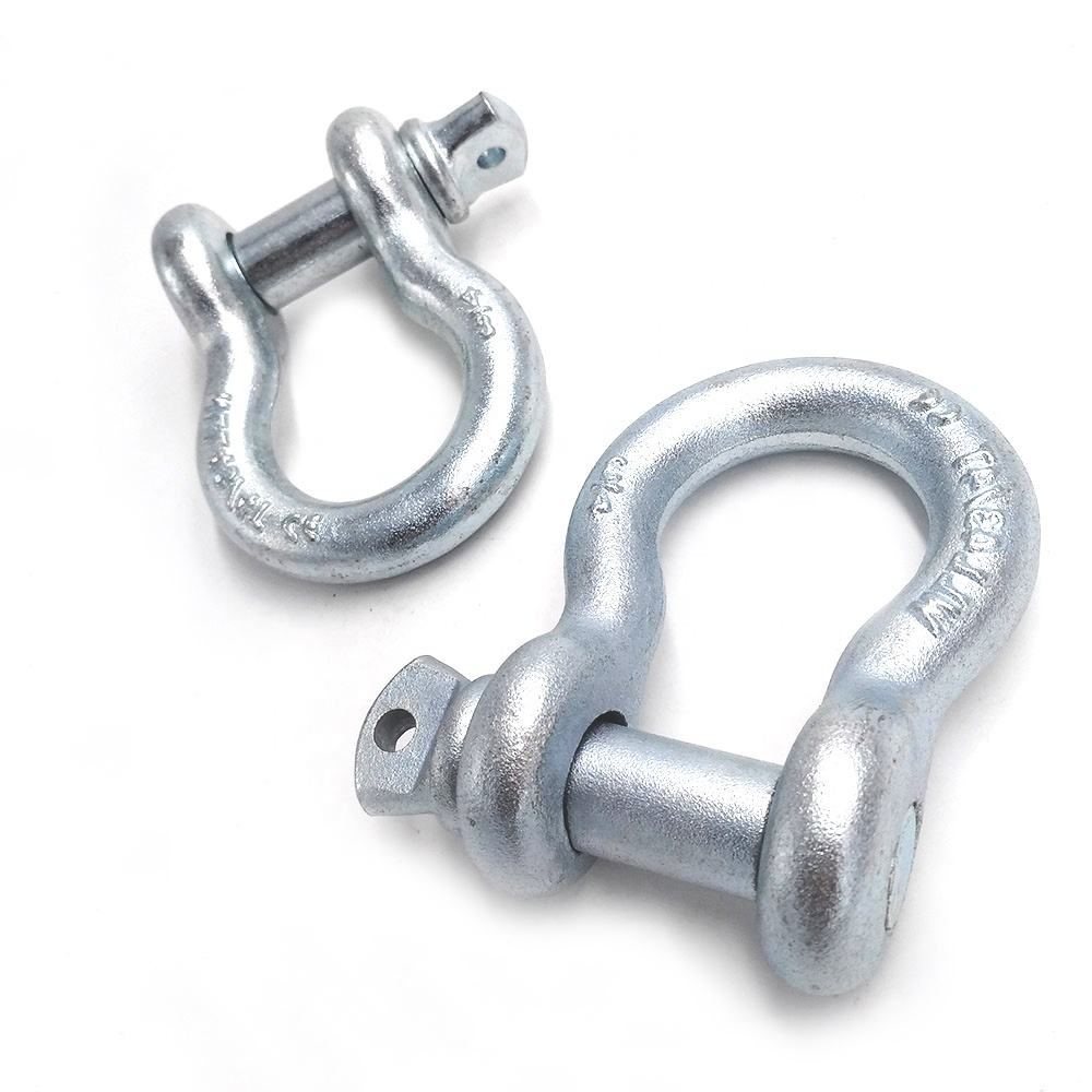 "3/4"" US Type G209 Standard Bow Shackle Electric Galvanized Anchor Shackle with Screw Collar Pin"