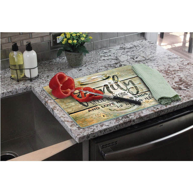 Amazon Hot Multifunctional Sublimation Blank Tempered Glass Cutting Board Custom Chopping Blocks