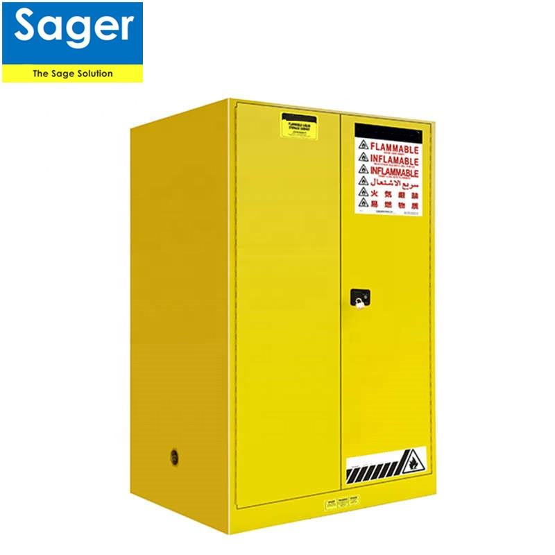 high quality steel safety cabinet for gases, chemicals and hazardous matters in laboratory
